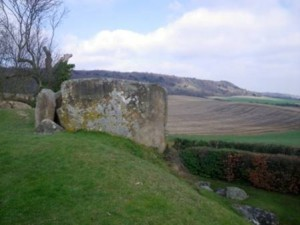 Coldrum Stones view