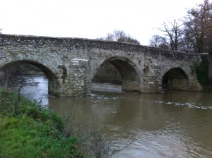 Medieval Teston Bridge (day after Boxing Day)